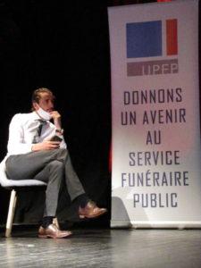 Manuel Sauveplane, président de l'UPFP aux rencontres nationales 2020