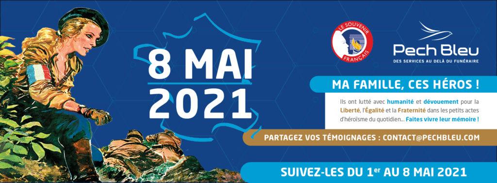 """Pech Bleu, en partenariat avec le Souvenir Français organise l'opération """"Ma famille, ces héros"""" en commémoration du 8 mai 1945. Partagez vos témoignages !"""