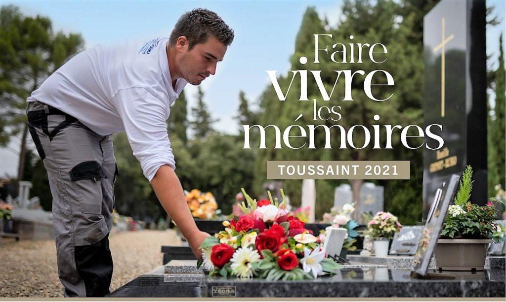 Pour Toussaint, le 1er novembre 2021, trouver une marbrerie funéraire à Béziers pour le nettoyage d'une tombe